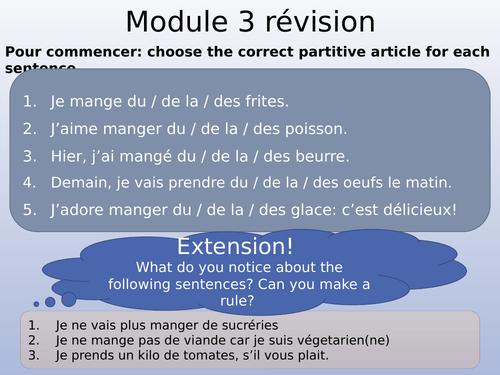 Studio Edexcel Module 3 - grammar and vocab review