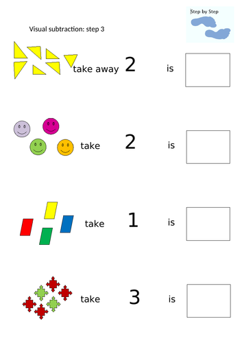 Visual subtraction Step 3