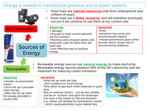EDEXCEL GCSE 9 -1 1.3 Energy; generation, storage and choosing appropriate sources