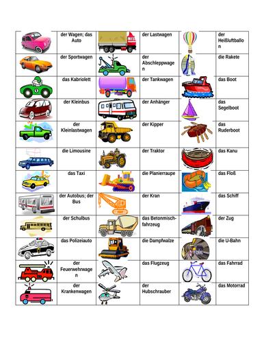 Fahrzeuge (Vehicles in German) Desk Mat