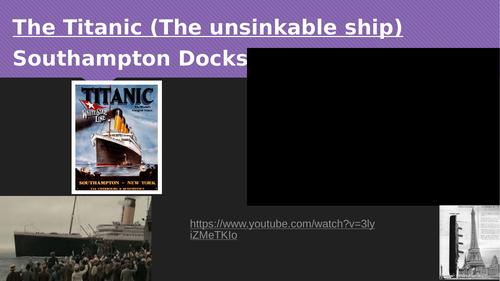 Newsround report on sinking of the Titanic