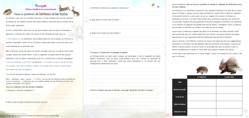 """[French, ethics] Texte à morale - """"Le hérisson et les lapins"""""""