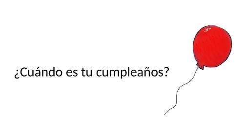 Spanish birthday date examples