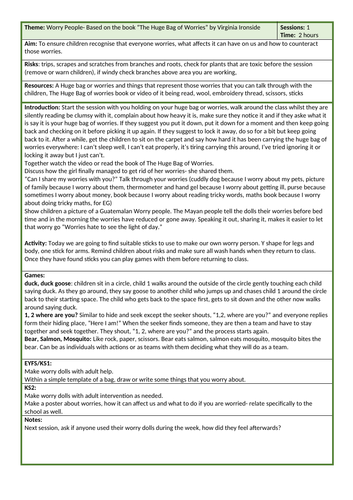 Forest School Worry People (1 session)