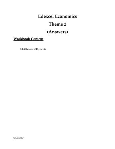 Edexcel Economics Theme 2: 2.1.4 Balance of Payments