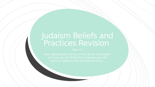 AQA GCSE Judaism Revision Work book