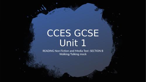 GCSE unit 1 Walking-Talking run through