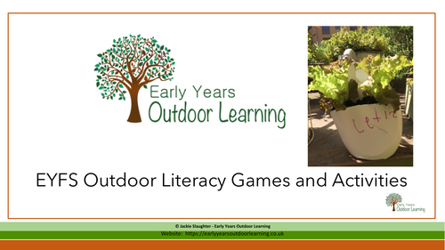 EYFS Outdoor Literacy Games and Activities