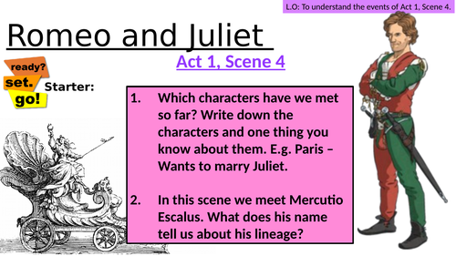 FULL LESSON- Romeo and Juliet - Act 1 Scene 4 - Non Exam Board Specific