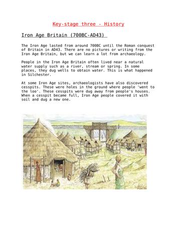 KS3 - Iron Age Britain Fact Sheet