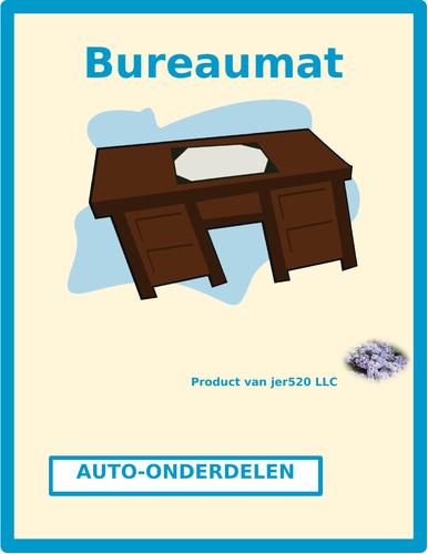 Car Parts in Dutch Desk Mat