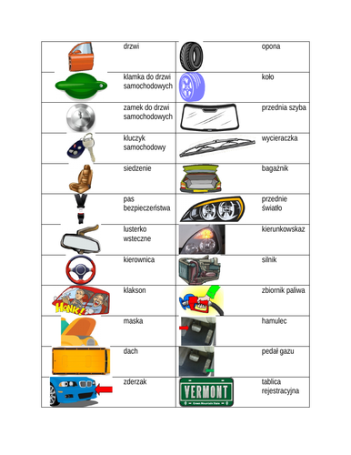 Car Parts in Polish Desk Mat