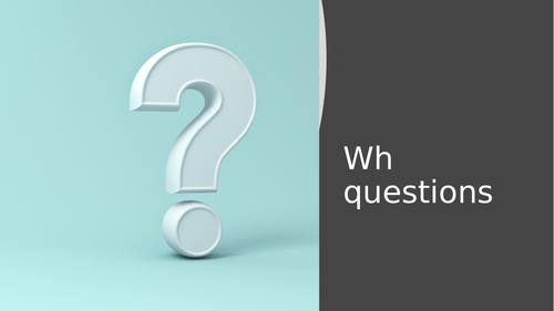 Wh-questions with visual questions