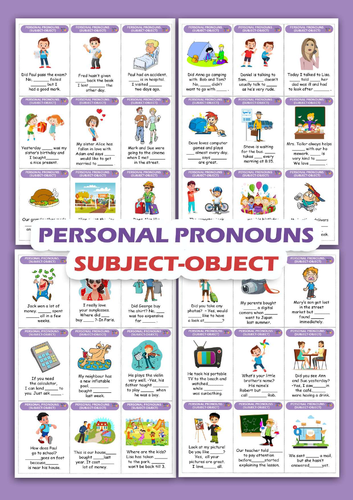 PERSONAL PRONOUNS-SUBJECT AND OBJECT