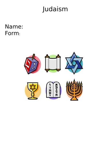 Judaism KS3 booklet, fully resourced set of lessons.
