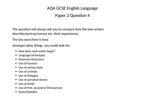 GCSEAQAEnglishLanguagePaper2Q.4Grid