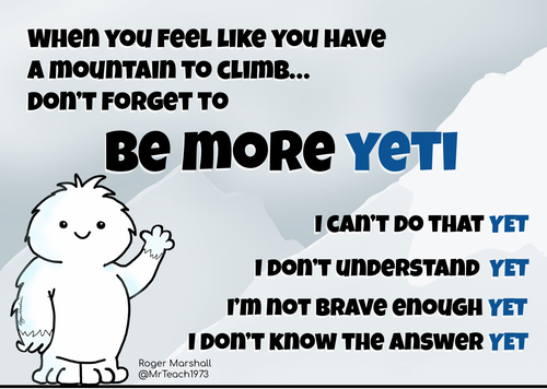 The Power of Yet - Growth Mindset  4 Posters