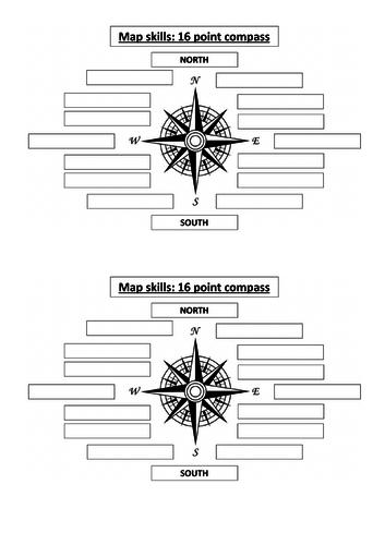 16-Point Compass Worksheet
