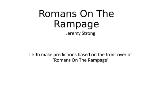 Romans on a Rampage predictions
