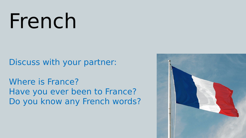 KS1 French activities