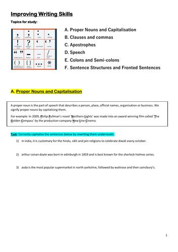 KS3 English Writing (Punctuation and Grammar)