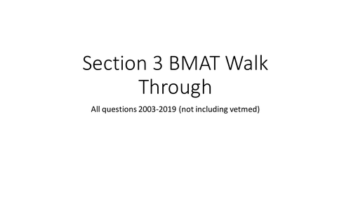 BMAT Section 3 Questions 2003-2019