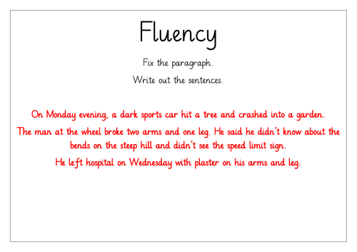 Year 4 Maths and English Fluency Starters Part 3