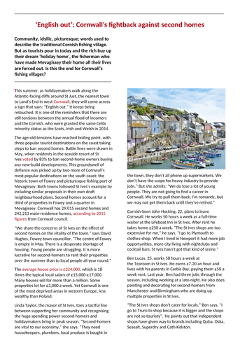 KS3 Coasts: Mevagissey case study
