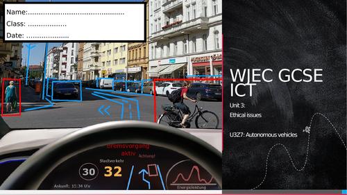 WJEC ICT Unit 3- Autonomous vehicles