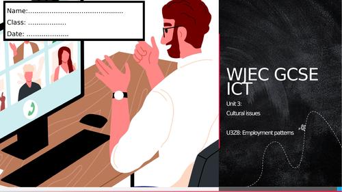 WJEC ICT Unit 3- Employment patterns