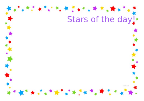 Star of the day poster