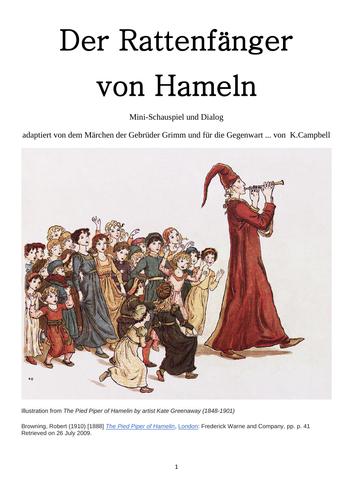 German play - Der Rattenfänger von Hameln