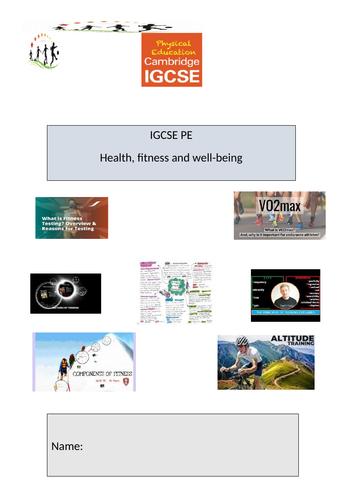 IGCSE PE Fitness Booklet