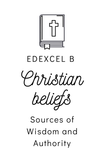 Christian Beliefs Sources of Wisdom and Authority Posters