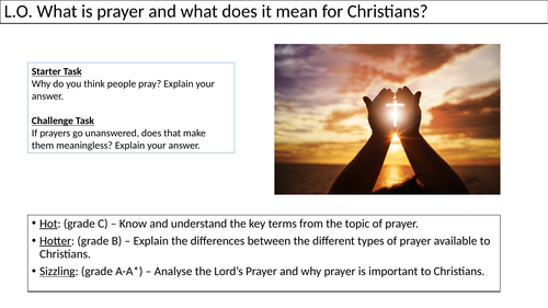 WJEC GCSE RE - Prayer - Unit One Christian Practices