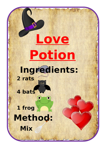 Magic Potions book