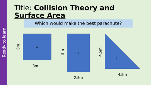 Collision Theory and Surface Area GCSE Chemistry AQA Rate of Reactions