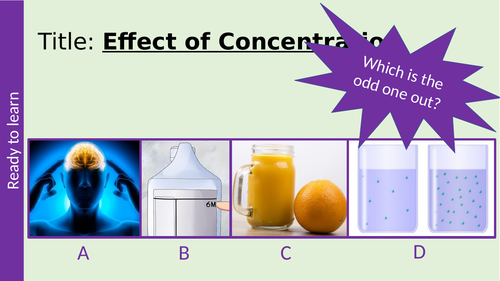 Effect of Concentration on Rate of Reaction GCSE AQA Chemistry