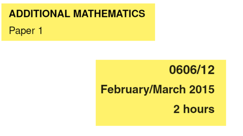 IGCSE-0606_March 2015_QP12_Solutions