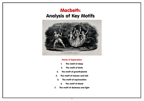 Macbeth - Key Motifs - Stretch and Challenge Booklet