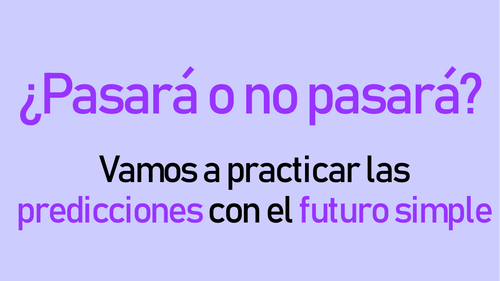 predicciones: practicar el futuro simple - 20 speaking cards for any level to practise simple future
