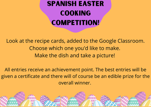 Spanish cooking cards