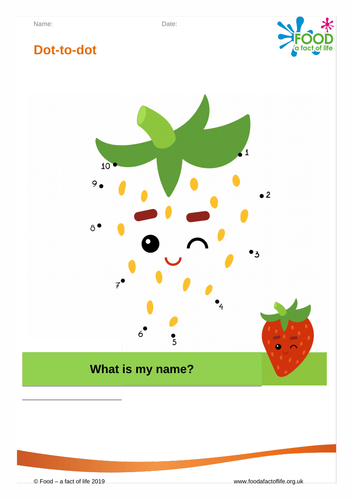 Dot to dot - Strawberry