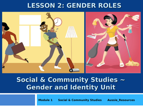 Social and Community Studies - Gender and Identity - Gender Roles and where they come from