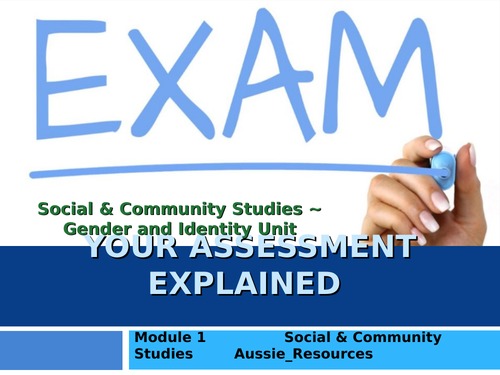 Social and Community Studies - Gender and Identity - Exam criteria and assessment literacy
