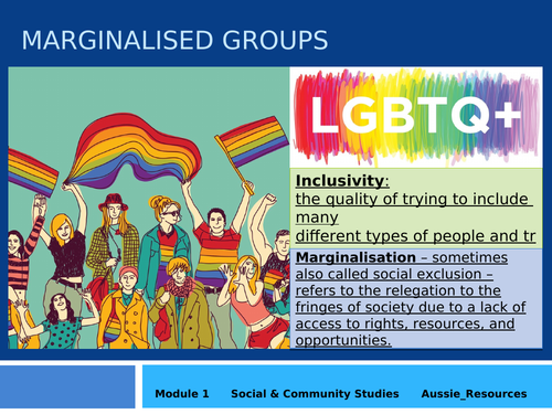Social and Community Studies - Gender and Identity - LGBTQIA+ peoples