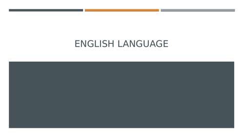 English Language: Paper One
