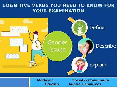 Social and Community Studies - Gender and Identity - How to use cognitive verbs describe and explain