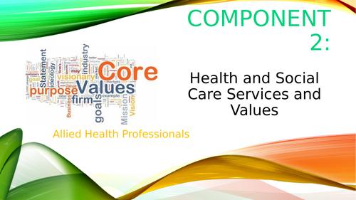 Level 2 BTEC Tech Award in H&S Care Component 2 LA:A- Allied Health Professionals