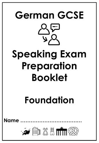 GCSE Speaking exam preparation booklets - Foundation